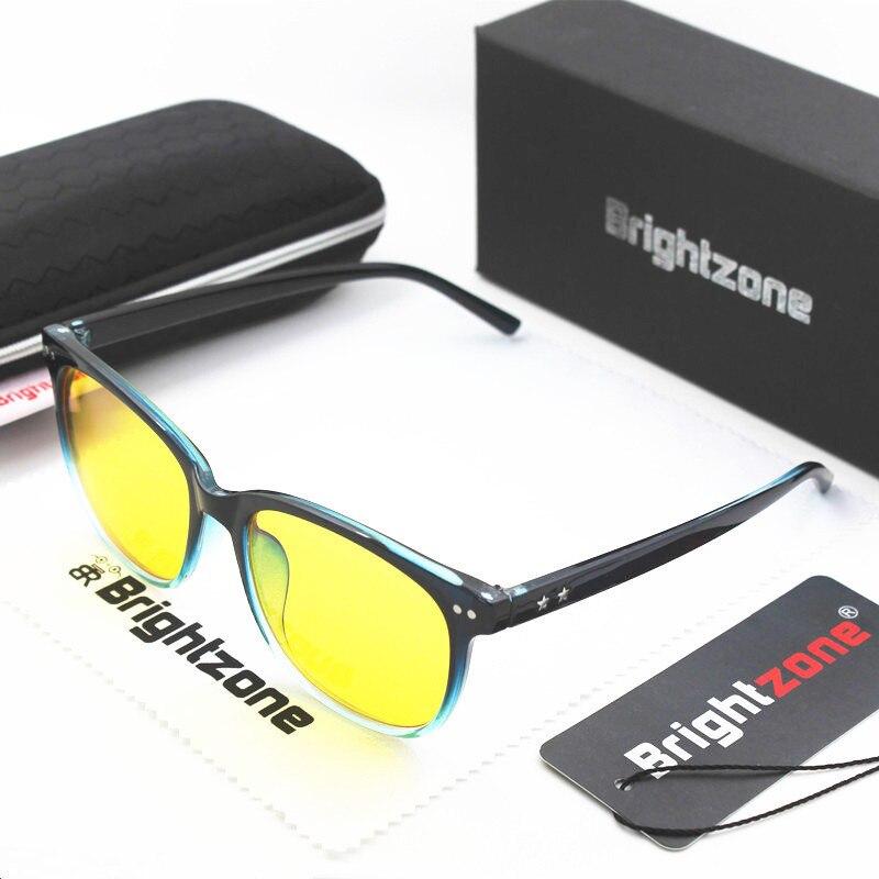 Brightzone Fashion Rivet Black-blue Gradient Anti Blue Light UV400 Indoor Computer Goggle Gamer Glasses Oculos Sem Grau Feminino