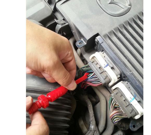 Adduswin Hot 2-8pcs/lot Piercing Test Clip Auto circuit  puncture probe power probe wire break signal 4mm banana seat factory