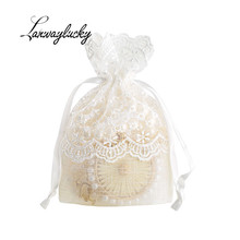 10x14cm Star Pattern Drawstring Gifts Bags Wedding Christmas Party Favors Packaging Jewelry Pouches Handmade Organza Bag Pouch 10x14cm linen cotton drawstring bag jewelry bag decorative bags christmas wedding gift pouch product packaging bags