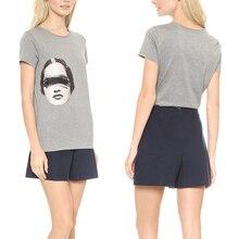New Fashion Short Sleeve Street Style Graphic Funny Print Women T-shirt