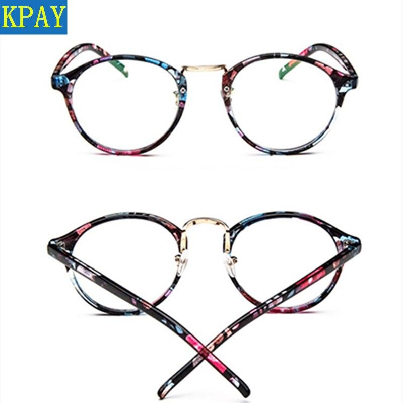 KPAY 2019 Fashion Women Spectacle myopia glasses Men EyeGlasses Frame nerd optical frames clear Transparent round