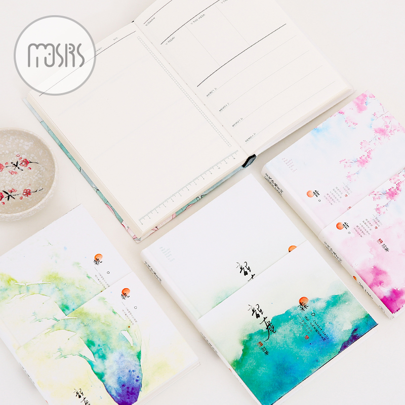 New Monthly Weekly Planner A5 Organizer Notebook Diary 112 sheets paper 4 style pages Hardcover Office shcool supplies gift new arrival weekly planner thumb girl notebook creative student schedule diary book color pages school supplies no year limit