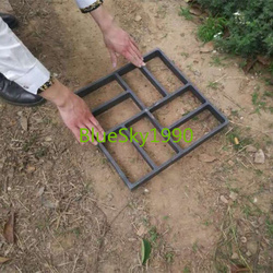 Molde de pavimento de plástico DIY Path Maker pavimentación de hormigón molde para pala de Pathmate de jardín 40*40*4 cm