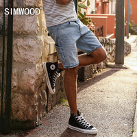 SIMWOOD 2018 Summer Fashion Denim Shorts Men Slim Fit Casual Cotton Jeans Trousers Male Plus Size