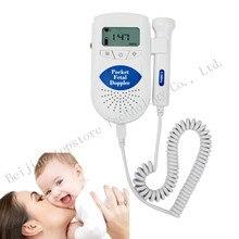 100% de Alta Calidad de 3 MHz Del Bebé Monitor de Ritmo Cardiaco Fetal Doppler Detector Detector de Latidos Cardíacos Fetales Pantalla LCD