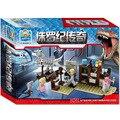 240pcs Jurassic World Dinosaur Base Lab Building Blocks Sets Jurassic Park Bricks Toys