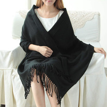 170 X 73 Cm Winter Oversize Scarves Simple Fashion Warm Blanket Unisex Solid