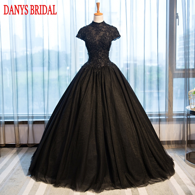 Puffy Black Lace Quinceanera Dresses Tulle Masquerade Sweet 16 Dresses Ball Gowns vestidos de 15 anos debutante princesa
