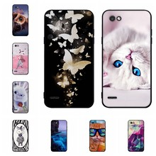 For LG Q6 Protective Case Soft Silicone TPU For LG Q6A Q6 Plus Cover 3D Flower Pattern For LG M700N M700A M700AN Phone Funda(China)