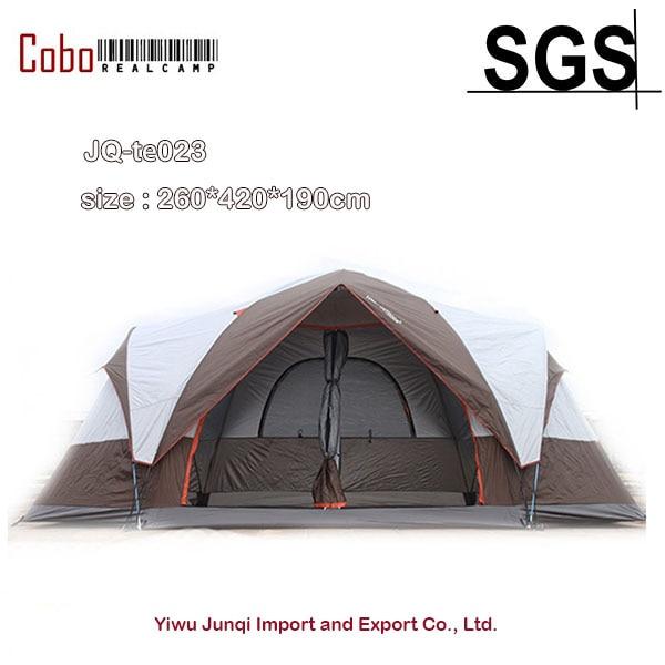 Grande tente de Camping familiale abri solaire Gazebo tente de plage pour avec chambres séparées et grand espace idéal pour la famille et la réunion sociale
