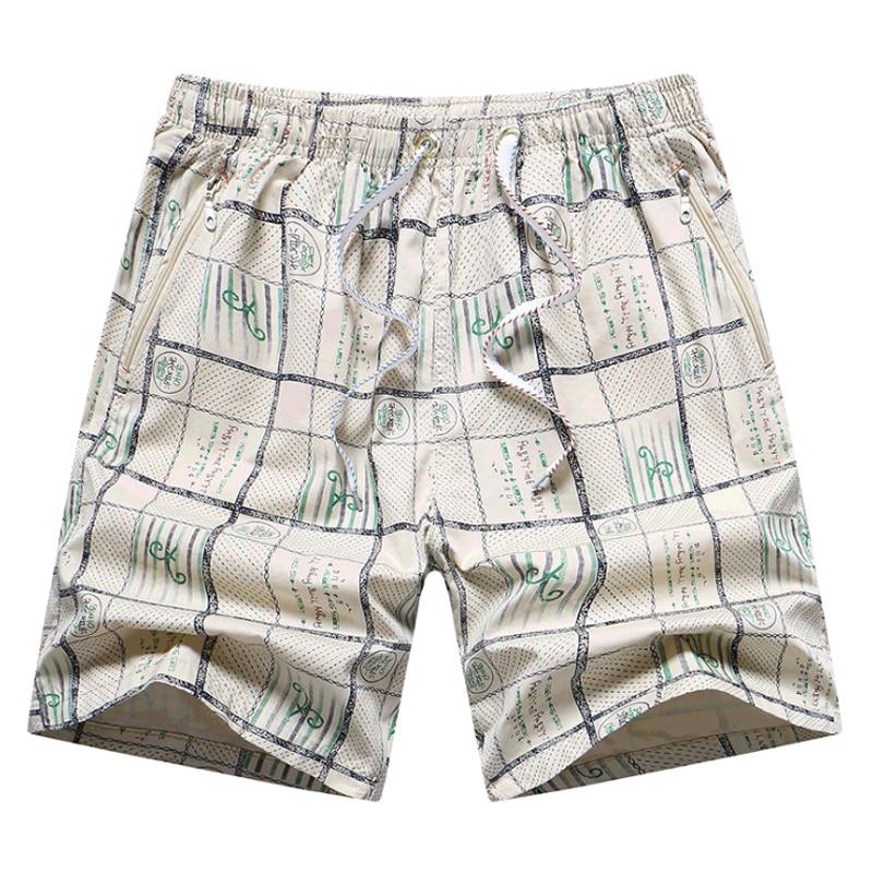 2018 Summer Quick Dry Swimwear   Short   Men Loose Bermuda Masculina Casual   Shorts   Fashion Plaid Beach Man   Board     Shorts   Dropshipping