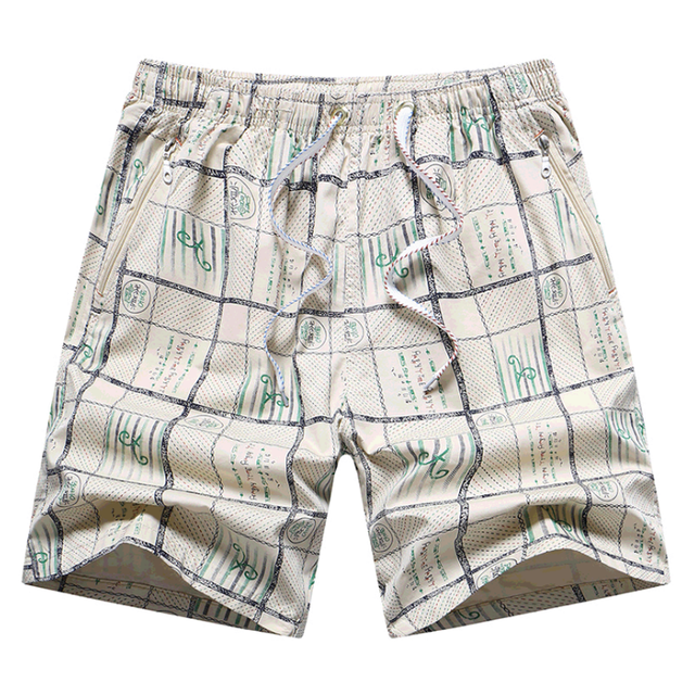 b48f269f97 2019 Summer Quick Dry Swimwear Short Men Loose Bermuda Masculina Casual  Shorts Fashion Plaid Beach Man Board Shorts Dropshipping