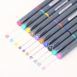 10 pçs/lote linha Fina caneta de desenho para manga projeto dos desenhos animados publicidade canetas de Cor Da Água Papelaria material escolar Escritório A6954