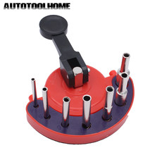 New 7pc 4-12mm Diamond Core Drill Bit Hole Saw Guide Jig Fixture Vacuum Suction Base Coolant for Tiles, Glass Granite, Ceramic(China)