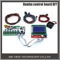 BIQU Румба совета управления DIY + LCD 12864 контроллер дисплея + перемычка + A4988 драйвер Шагового двигателя для reprap 3D принтер