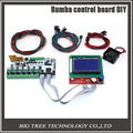 BIQU Rumba control board DIY+LCD 12864 controller display +jumper wire +A4988 Stepper motor driver for reprap 3D printer