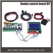 Biqu rumba steuerkarte diy + lcd 12864 controller display + jumper draht + qualitäts-a4988 schrittmotortreiber für reprap 3d drucker