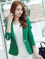 Spring New Fashion Women Blazers Long Sleeve Women's One Button Slim Casual Business Blazer Suit Jacket Coat