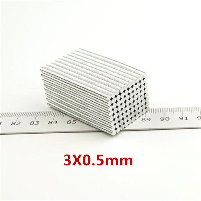 1000Pcs Mini Small Magnet 3 0 5mm Strong Round Magnets Dia 3x0 5 mm Neodymium Magnet