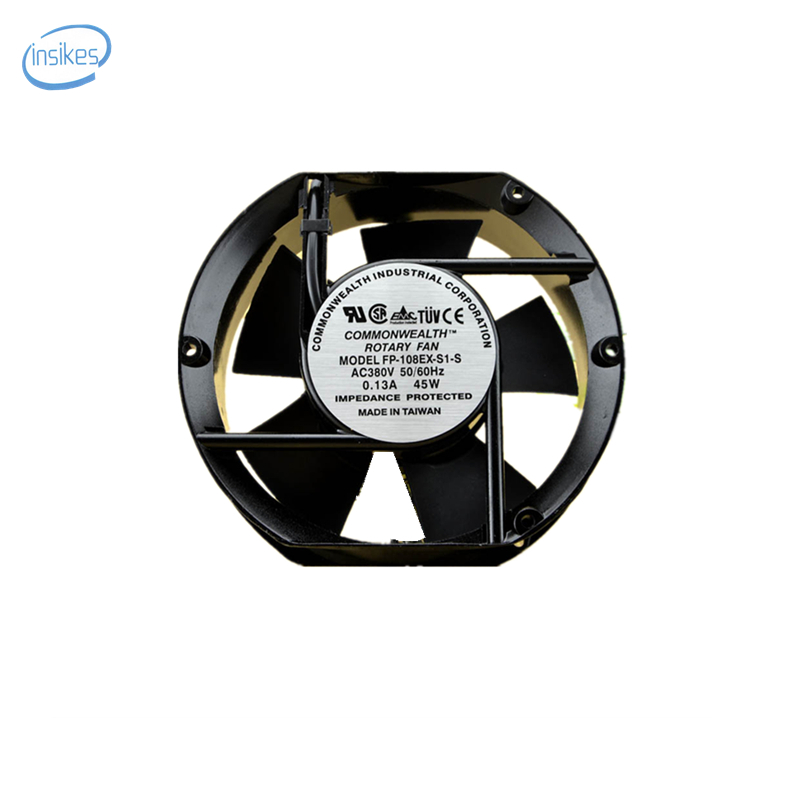 FP-108EX-S1-S Double Ball Bearing Cabinet Cooling Fan AC 380V 0.13A 45W 3500RPM 17251 17cm 172*150*51mm 2 Wires original delta afb0912shf 9032 9cm 12v 0 90a dual ball bearing cooling fan