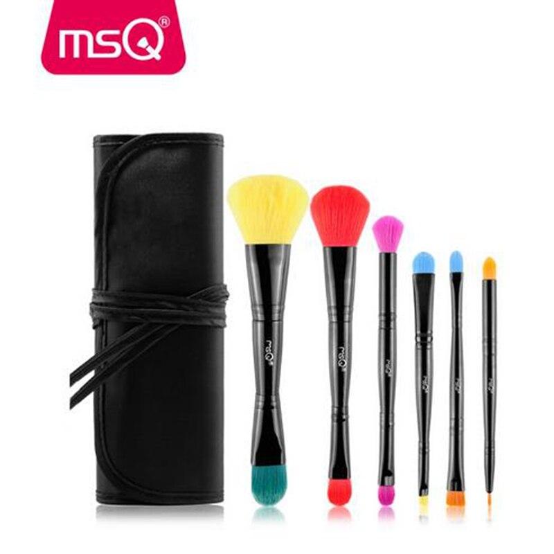 MSQ 6PCS Makeup Brushes Set Foundation Blending Powder Eyeshadow Contour Concealer Blush Cosmetic Beauty Make Up Kits Hot New блеск для губ msq 6 cristal led msq cc01 6