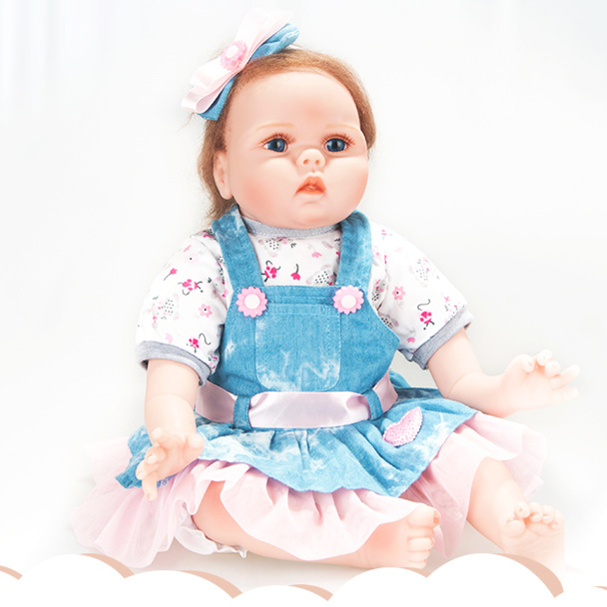 22'' 55cm Silicone Reborn Baby Dolls Lifelike Newborn Baby Girl Reborn Doll Handmade Vinyl Silicone Baby Dolls Children Kid Gift baby born dolls handmade doll bjd dolls reborn silicone baby dolls accessories lol kid toy gift kawaii brand dropshipping