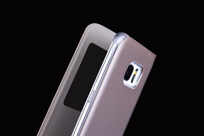 QTNED Luxury View Phone Case för Samsung S7 Edge Flip Cover Holster - Reservdelar och tillbehör för mobiltelefoner - Foto 4