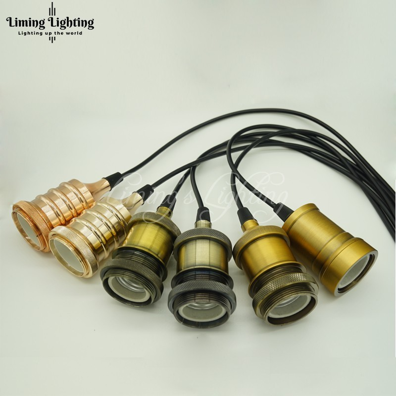 Orderly E27 Edison Retro Lamp Holder Antique Line Restaurant Bar Teahouse Ancient Lamp Suspension Pendant Light Lighting Ceiling Lights & Fans