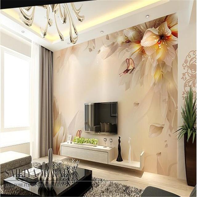 Moderne Tapete Für Wohnzimmer Fantasie Lilie Kunst Blume Tapeten  Schlafzimmer Hintergrund Wandbild Sofa Malerei Wohnkultur