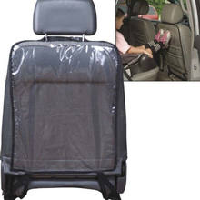 Car Seat Back Cover Protector Kick Clean Chair Cover Anti Stepped Dirty for Kids Car Chair Back Cover Black Blue(China)