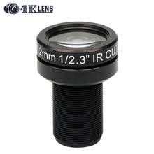 4K LENS 7.2MM Lens 1/2.3 Inch 10MP IR 47D HFOV NON Distortion for Go pro DJI Phantom Drones Newly Coming Hot