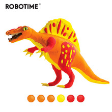 Robotime Creative DIY Polymer Spinosaurus Clay Slime Fluffy Light Soft Plasticine Toy Modelling Clay Playdough Slime Toys FY02(China)