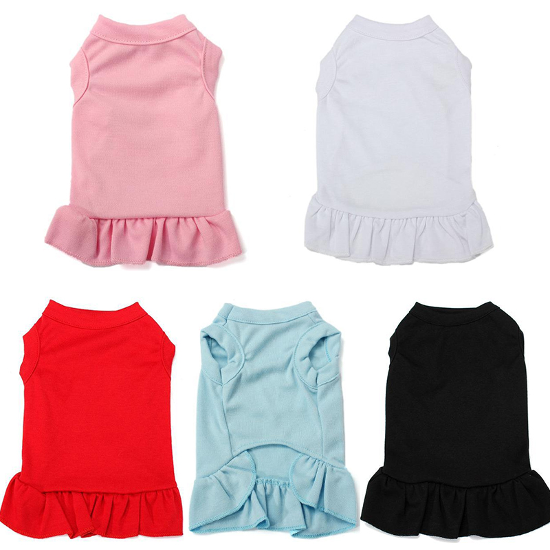 Summer Pet <font><b>Dog</b></font> Clothes Skirt For Small <font><b>Dog</b></font> <font><b>Dresses</b></font> Pet Cat Clothing For <font><b>Dogs</b></font> <font><b>Dresses</b></font> Skirts Chihuahua Costume Pet Vest Shirt 30 image
