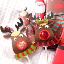 25Pcs Papier Lollipop Abdeckung Elch Design Kinder Geburtstag Hochzeit Candy Decor Urlaub Weihnachten Geschenk Verpackung Box