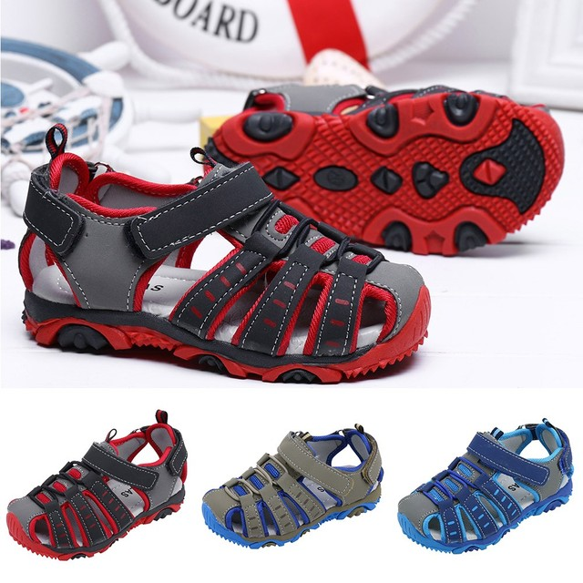 MUQGEW ילדי ילדי נעלי ילד ילדה סגור הבוהן קיץ חוף סנדלי נעלי סניקרס נוח תינוק רך נעלי 2019