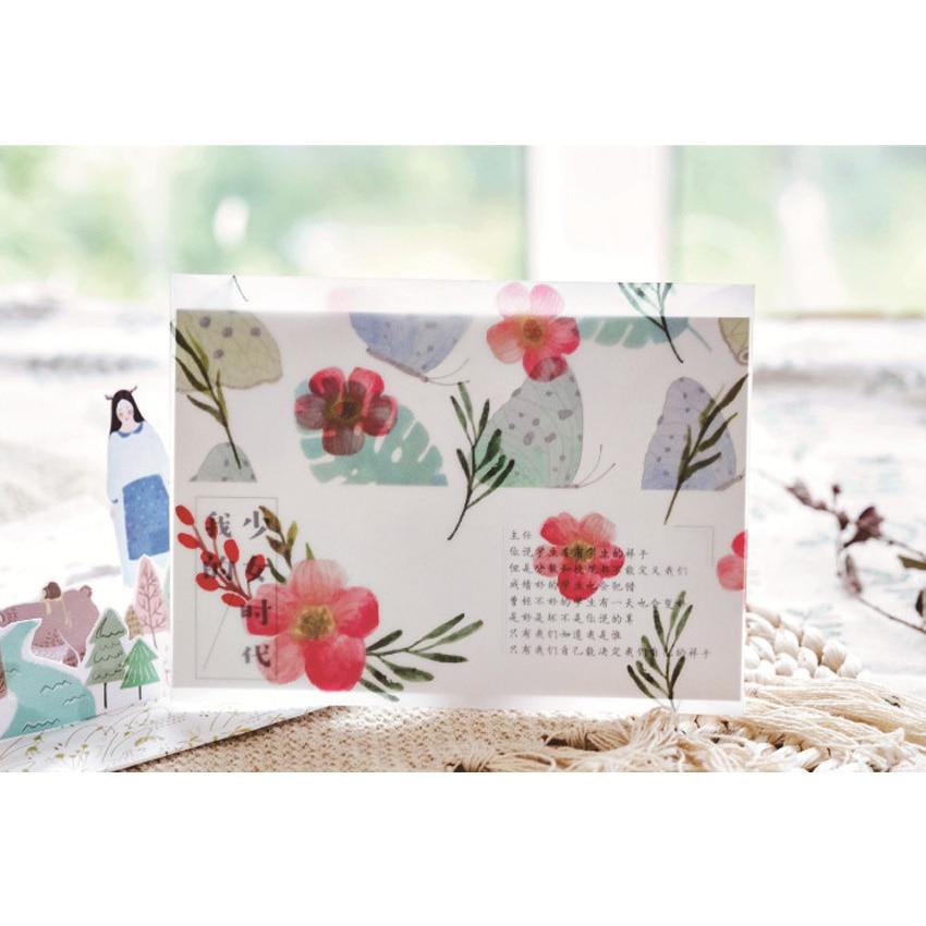 8pcs/lot Creative Four Seasons Sulfuric Acid Paper Envelope Into Random Office School Supplies Four Selsction 2