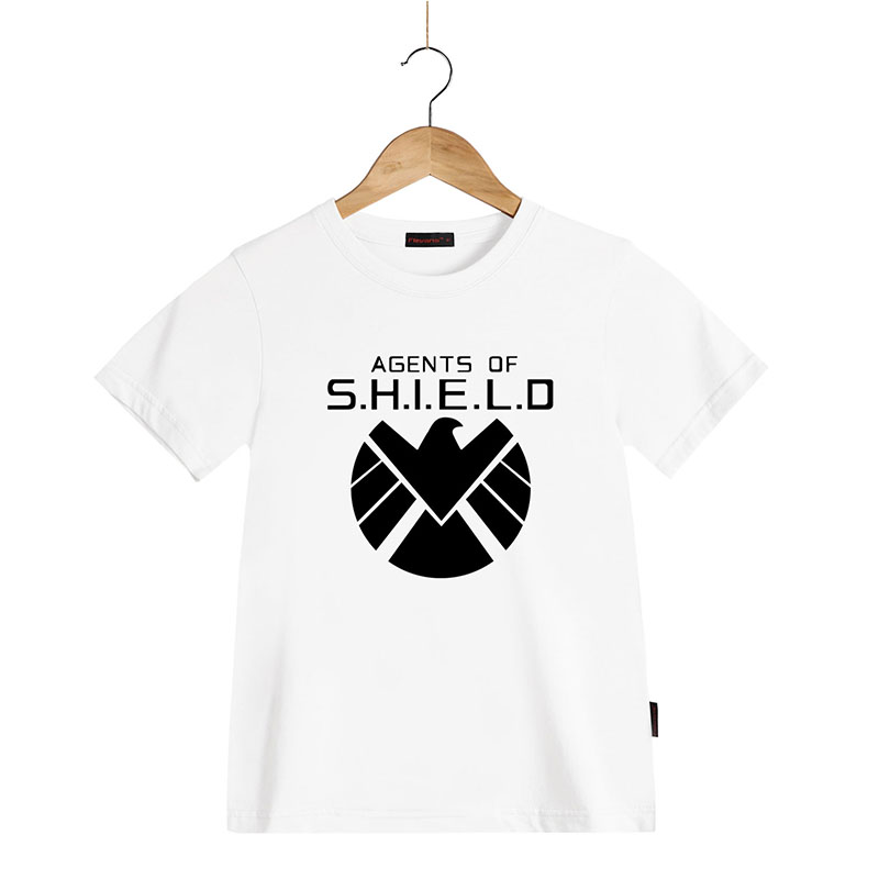 Kids Fashion Summer Cotume S.H.I.E.L.D T Shirts Agents of SHIELD Pting T-shirt for Boys Girls Short Sleeve Childdren Summer Tops