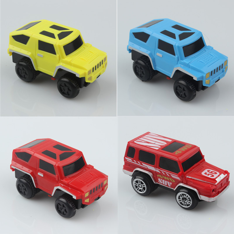 Mini Race Track Car Racing Cars Truck Vehicles LED Flashing Car Without Truck Rails Kids Children Play Toy Educational Gift Toys