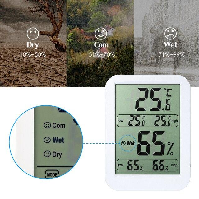 us $9 77 45% off digital indoor thermometer hygrometer c f records indicators display temperature humidity monitor gauge thermo hygrometer in  25 thermometerhygrometer for indoor gardens #3
