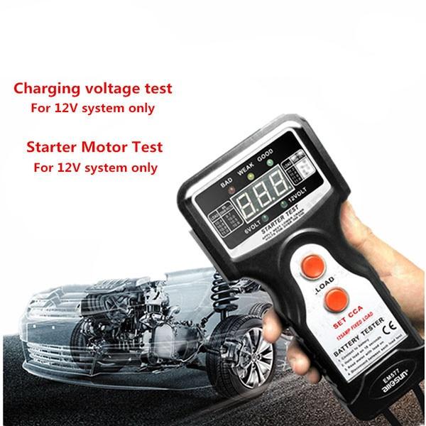 All-Sun EM577 12V CCA Digital Automotive /Car Battery Tester for Cold Temperature /Battery Load /Charging Voltage /Starter Motor