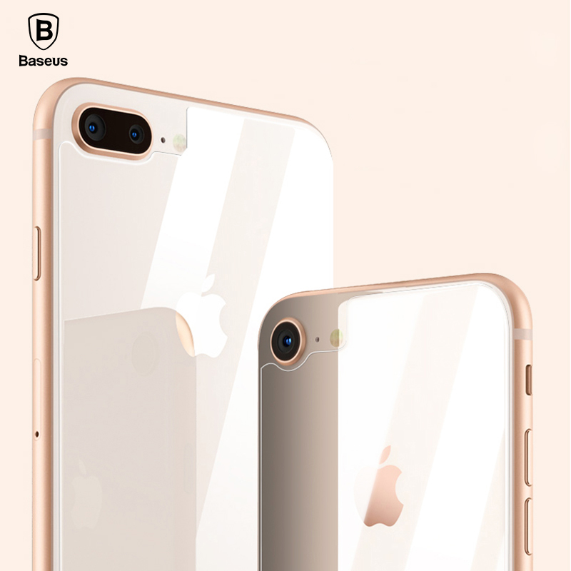Baseus 0.3mm Back Screen Protector For iPhone 8 Rear Tempered Glass For iPhone 8 Plus Reverse Protective Toughened Glass Film