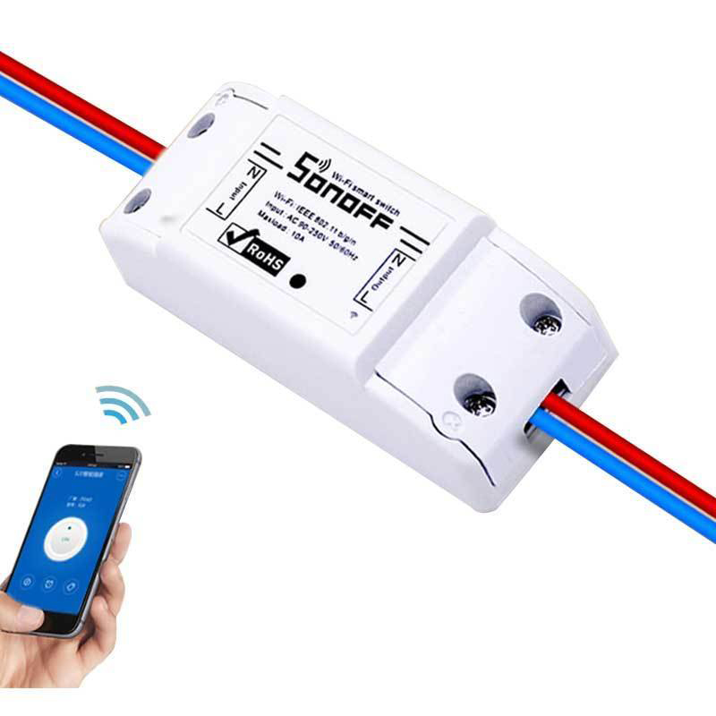 Diy itead sonoff 10a wi fi interruptor de controle remoto sem fio inteligente interruptor wi fi para automação casa módulo via ios andriod smartphone