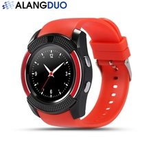 ALANGDUO V8 Smartwatch Android System Unterstützung Sim Tf Slot Bluetooth für Android Telefon Reloj Inteligente
