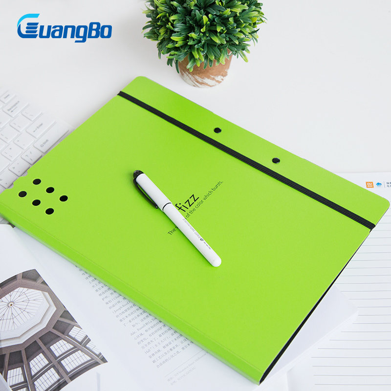 GUANGBO Clip File holder A4 Tablet Plate Clamp Students Folder Expanding Management School Supplies Stationery File Folder candy color clipboards a4 notes folder write sub plate wordpad stationery clip file paper file folder holder school supplies