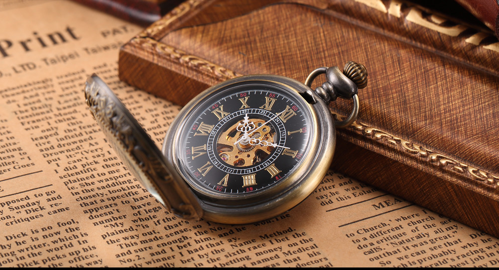 steampunk watch with gear showing - inside