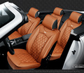 Para Acura ILX ZDX MDX RDX RL TL TLX marca preto macio tampa de assento do carro de couro conjunto dianteiro e traseiro tampa à prova d' água para o carro assento
