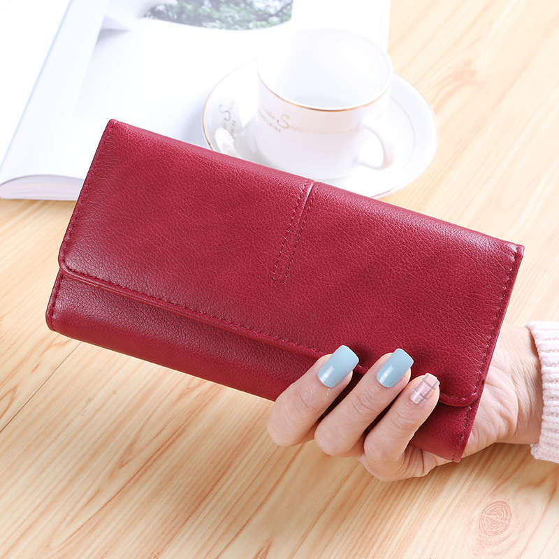 New Design Leather Wallets Women Luxury Brand Purses Woman Wallet Long Hasp Female Purse Card Holder Clutch Feminina Carteira women big wallet and purse leather cheap money wallets purses card holder edc organizer wristlet knitting handbag luxury brand