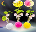 led color change night light sensor mushroom lamp kids 110V 220V EU US baby room night led light luminarias lamp nightlight