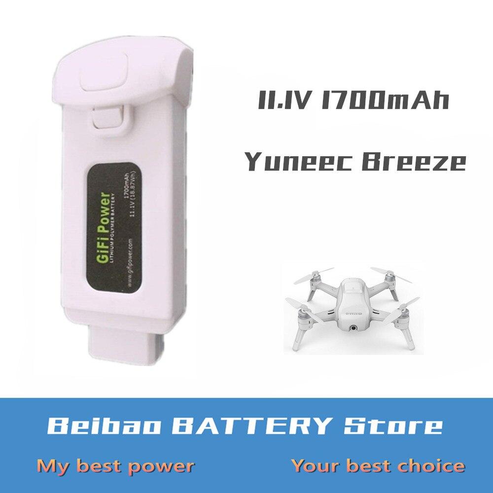 1pcs Gifi Power 11 1V 1700mAh 18 87Wh Lithium Polymer Li po Battery for Yuneec Breeze