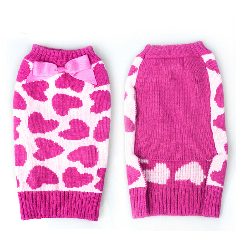 Sweet Heart Design Warm Pet Dog Sweater Coat Knitwear Clothes for dogs,Winter Puppy Cat Jumper,Dogs Sweater Yorkie Teddy